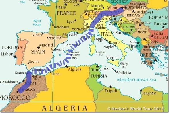 Across the Mediterranean Sea Herbie 39 s World Tour